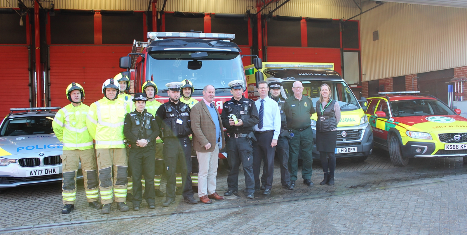 Emergency services unite to launch don't drink and drive campaign