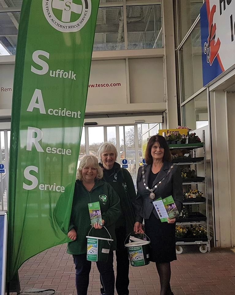 Bucket collection for SARS - Bury St Edmunds